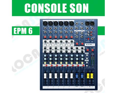 location console de mixage soundcraft