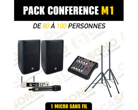 Location Pack conférence M1 - 1 Micro HF