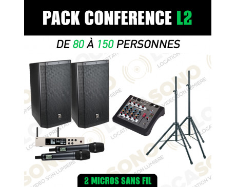 Location Pack conférence L2 - 2 Micros HF