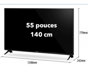 location écran plat led 55 pouces