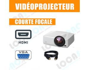 location videoprojecteur courte focale