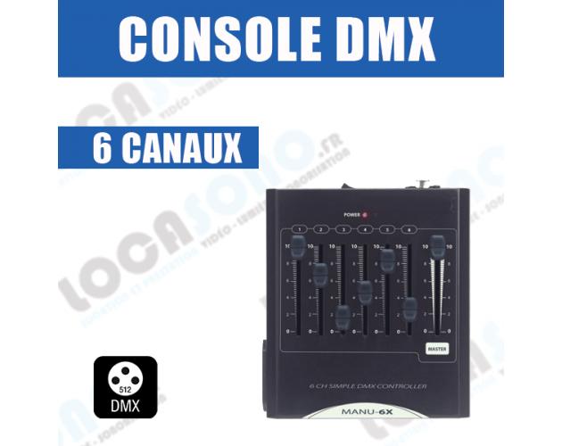 location console dmx 6 voies
