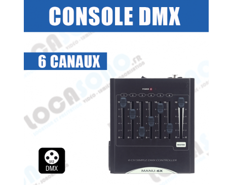 location console dmx 6 voies