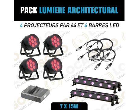 location pack lumière led pour éclairage façade