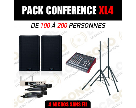 location pack conférence XL4 - 4 micros HF