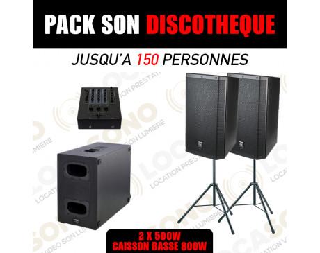 location pack Discotheque pour 150 à 200 personnes