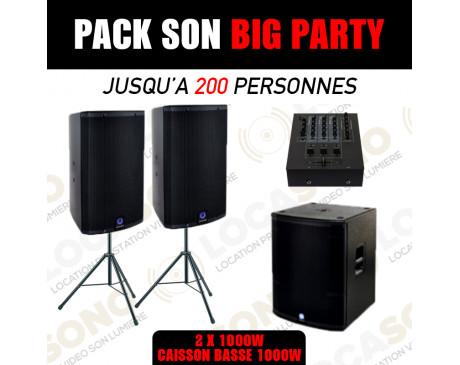 location pack Big Party pour 200 à 250 personnes