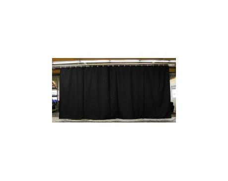 location rideaux fond de scène NOIR 3m x 4.5m classé M1 avec oeillères