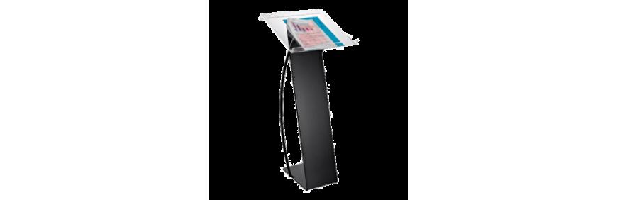 location pupitre plexiglas prestige transparent ou fumé pour réunion