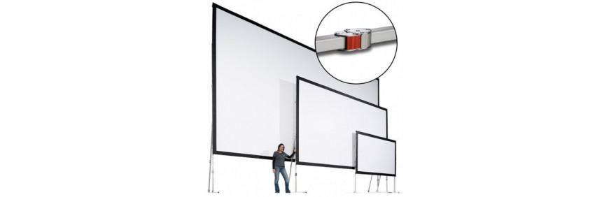 location écran de projection sur cadre ou écran déroulant sur trépieds