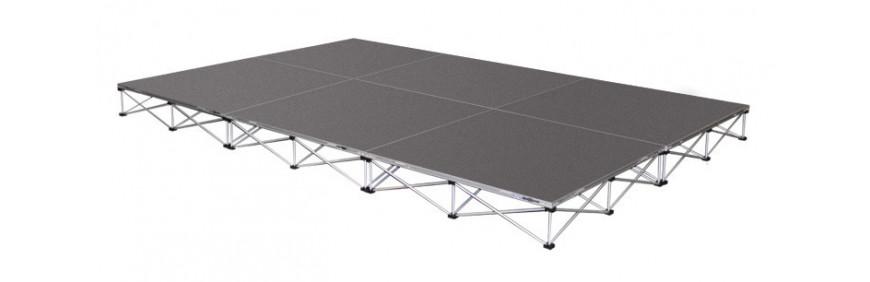 location de podiums de 1m² pour scène à monter facilement